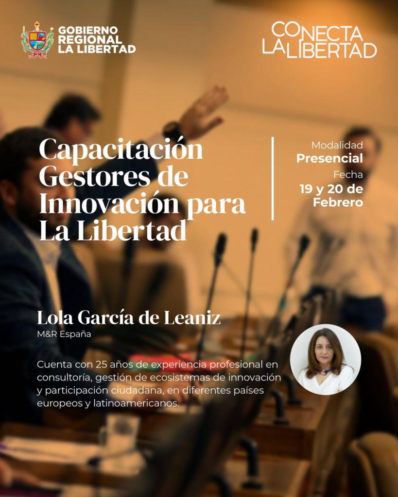 Imagen de portada de capacitación. Ponente Lola García de Leaniz